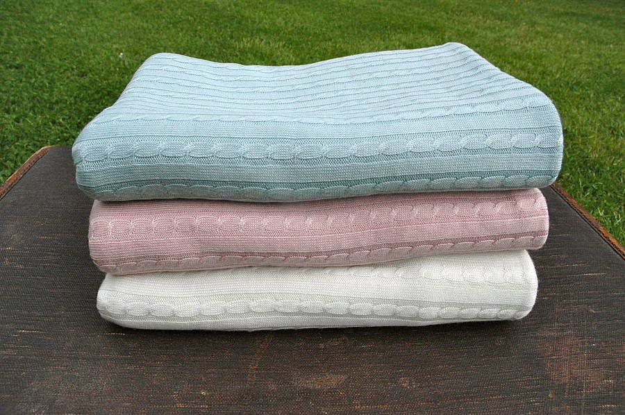 cable knit blankets by bamboo baby   notonthehighstreet.com