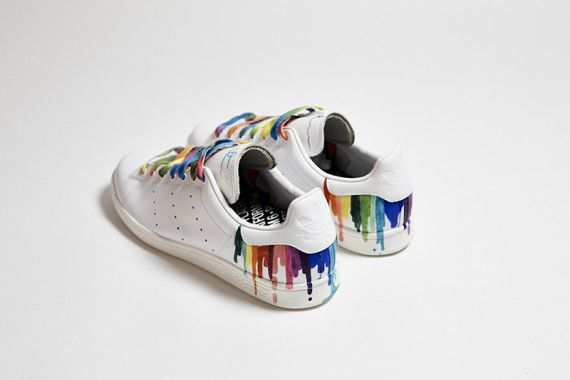 4605f5ad1a04 Celebrities Customize adidas Originals Stan Smiths for Stonewall Charity