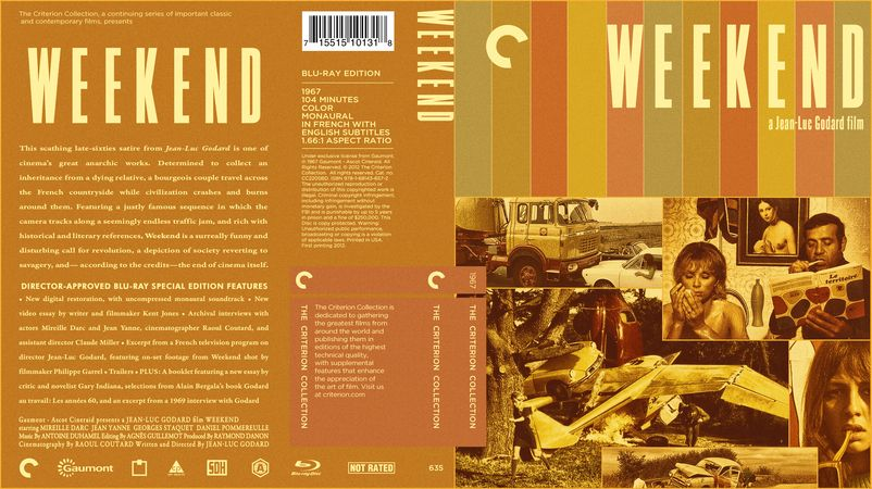 Weekend (1967) Criterion Collection Blu-ray Custom Cover