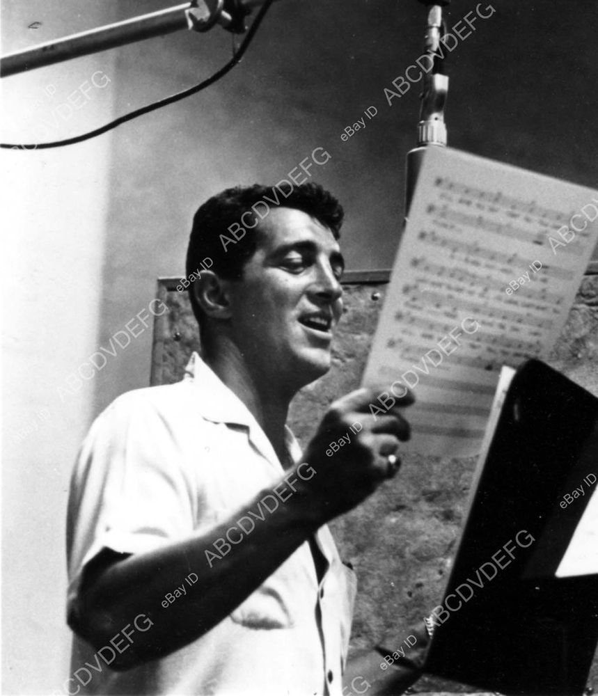 B Dean Martin in the recording studio b Hooray