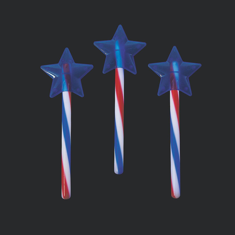 Patriotic Glow Swizzle Star Wand Star Wand Oriental Trading Patriotic