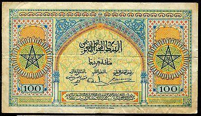 100 Francs Du Maroc 1 5 1943 Ebay Billetes De Banco Papel Moneda Billetes Del Mundo