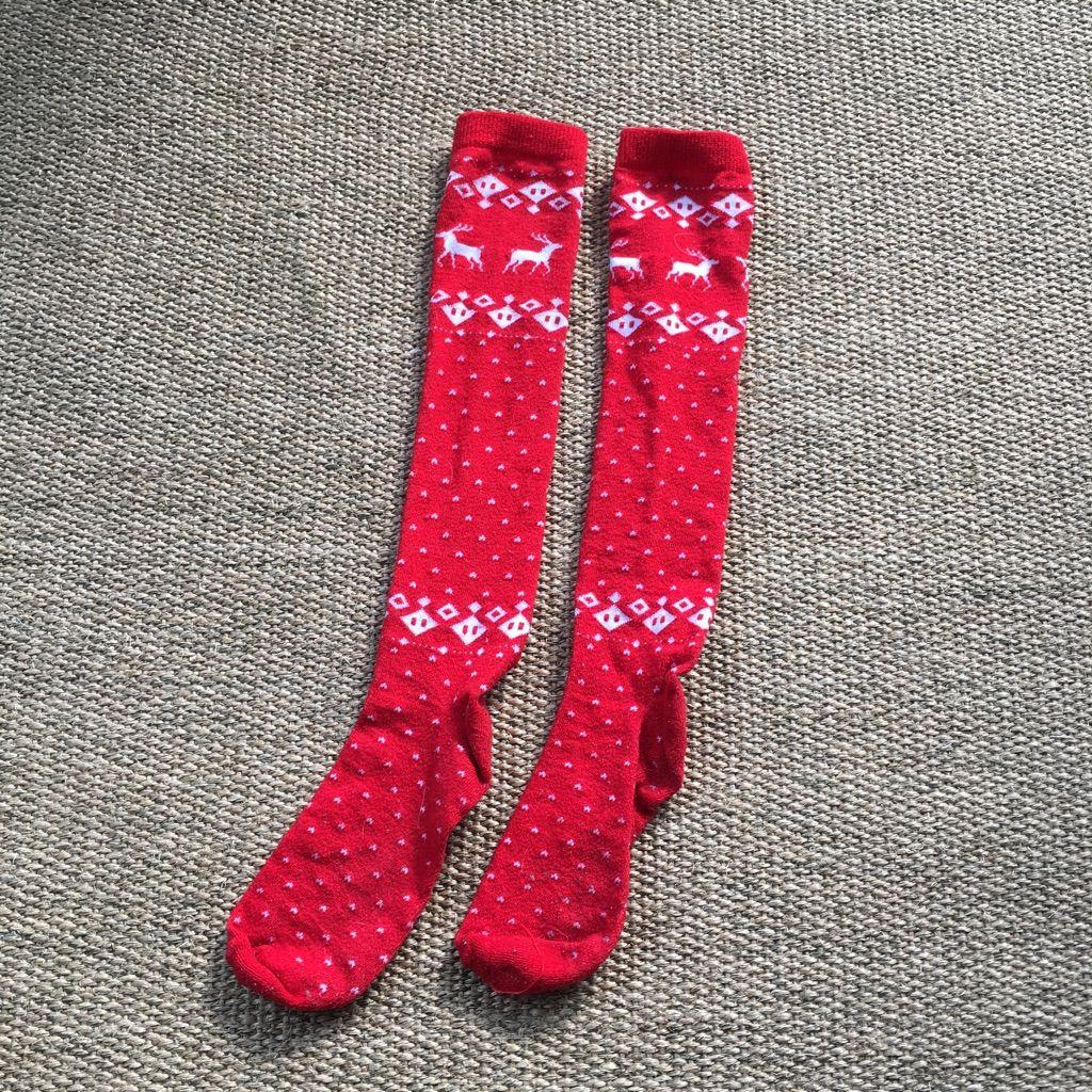 target redwhite reindeer holiday knee high socks - Christmas Socks Target