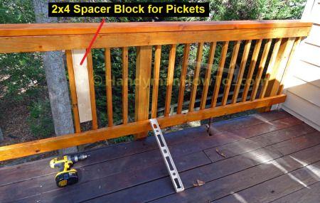 Best Build Deck Rail Install 2X2 Pickets Deck Railings 400 x 300