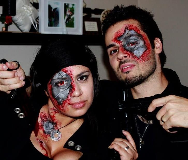 Crazy cool face paint for Halloween | Halloween face, Halloween ...