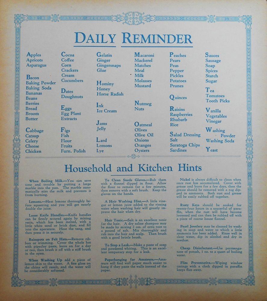 Hoosier kitchen cabinet door chart card antique old stock mcdougall ...