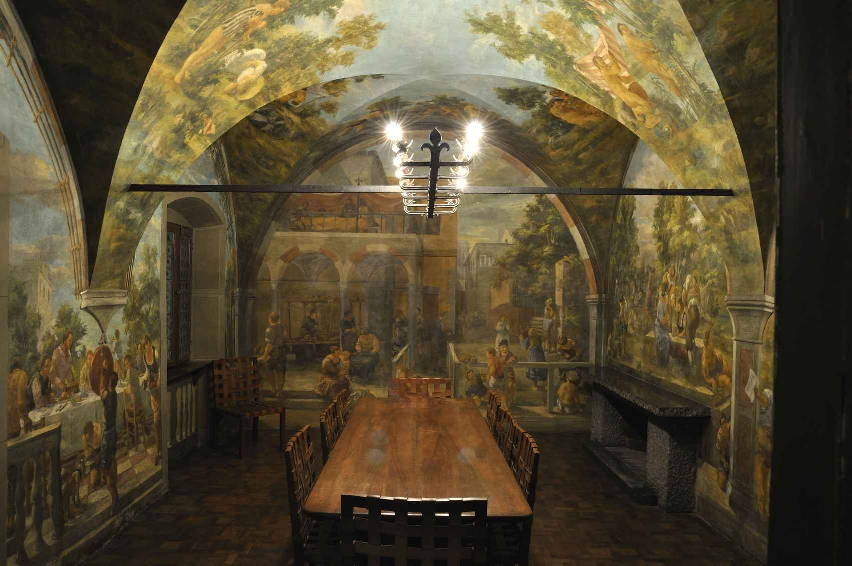 Sala Da Pranzo Nell 39 Appartamento Di Dante Cavazzini