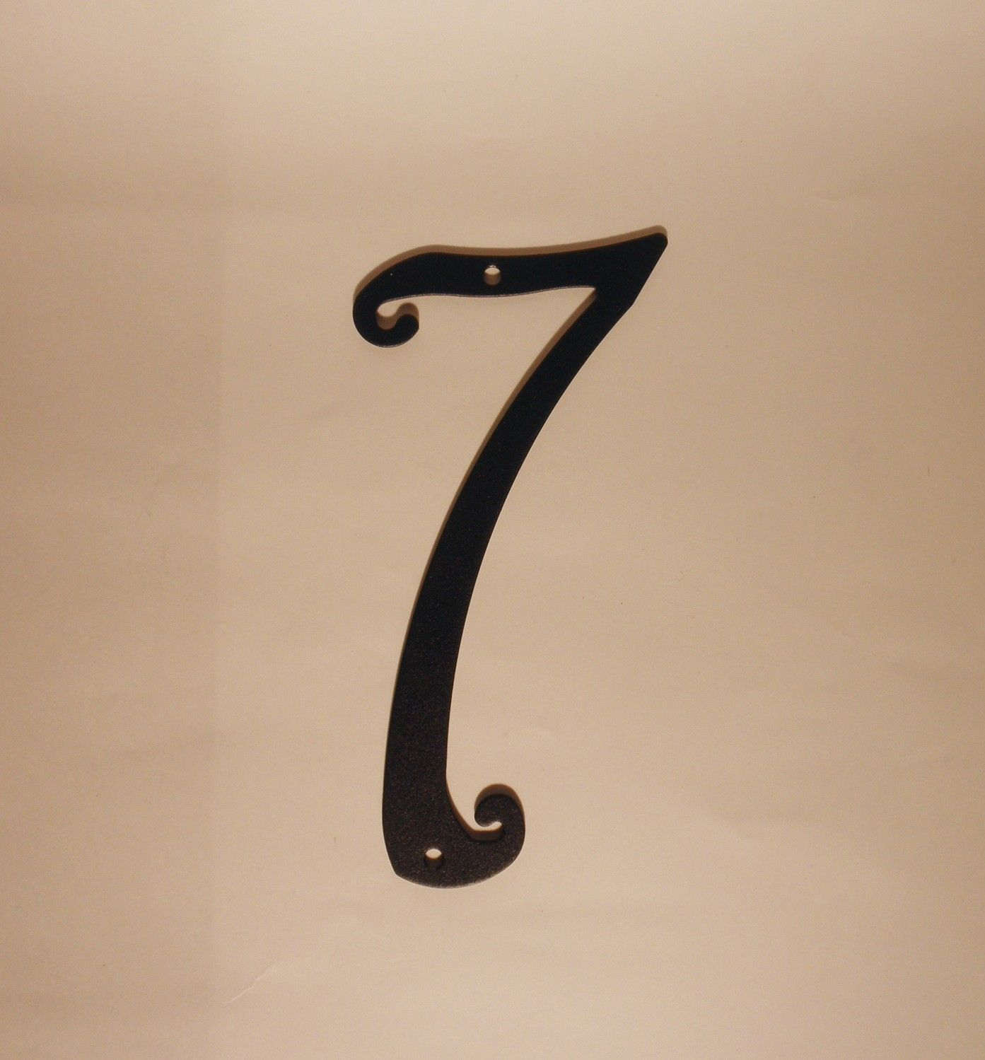 Antique Style Black Metal House Number New 5.75 Inches Tall New Old Stock.  $8.99,