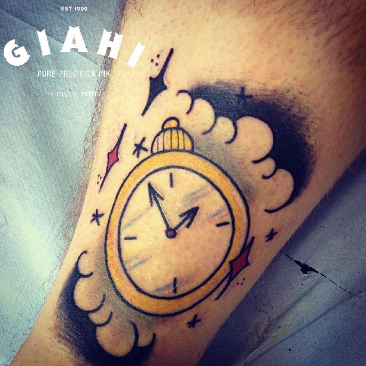 Arrows Time Clock tattoo by Elda Bernardes | Best Tattoo Ideas Gallery