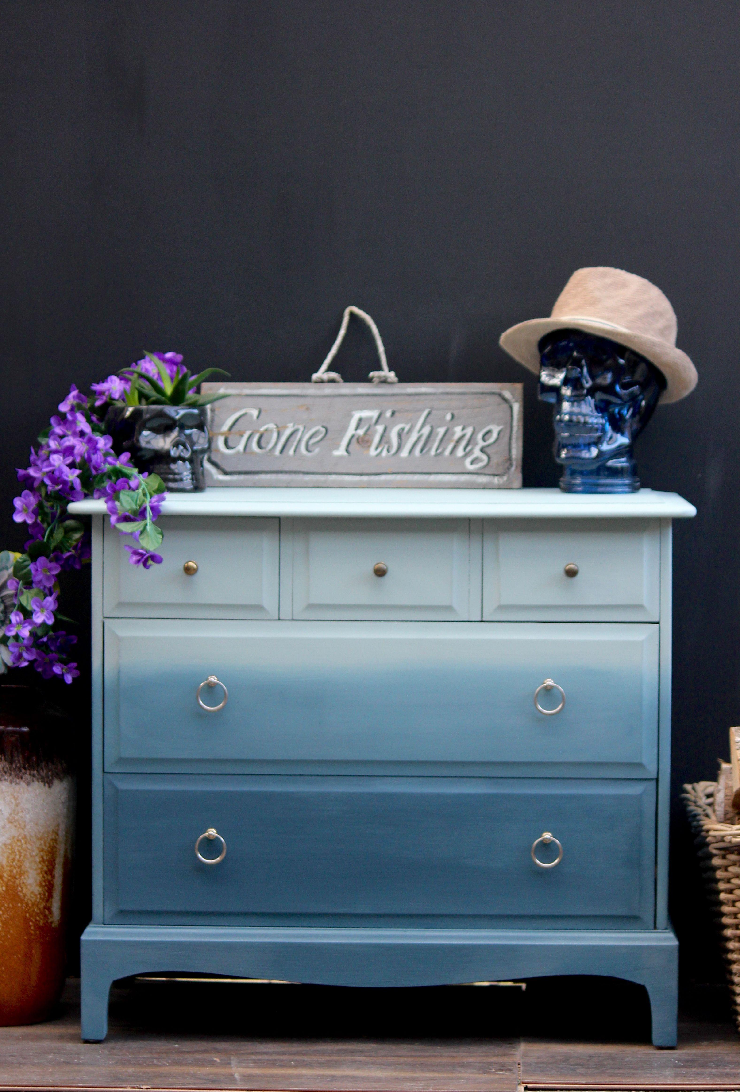 Ombre Annie Sloan Svenska Blue Aubusson Blue Annie Sloan Chalk Paint Furniture Ombre Paint