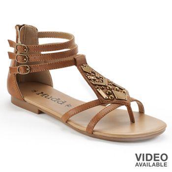 Mudd® Embellished Gladiator Sandals