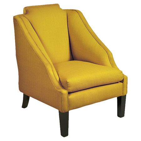 Cotton-linen upholstered side chair in mustard.   Product: ChairConstruction Material: Cotton-linen upholstery