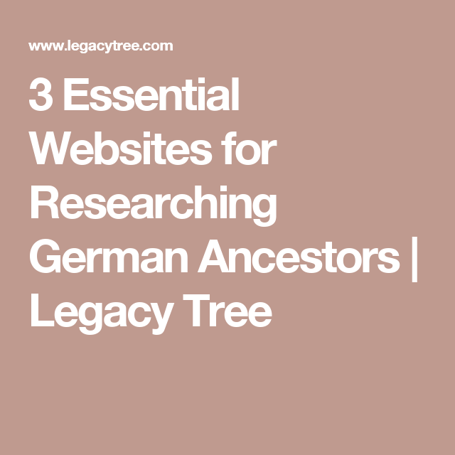 German ancestry websites