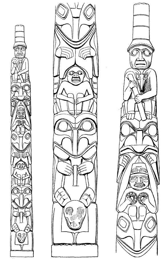 17 Best Images About Tattoo Designs Totems And Traditioneel On Pinterest Totems Tiki Totem And Tribal Tattoos Totem Pole Native Art Totem Pole Tattoo