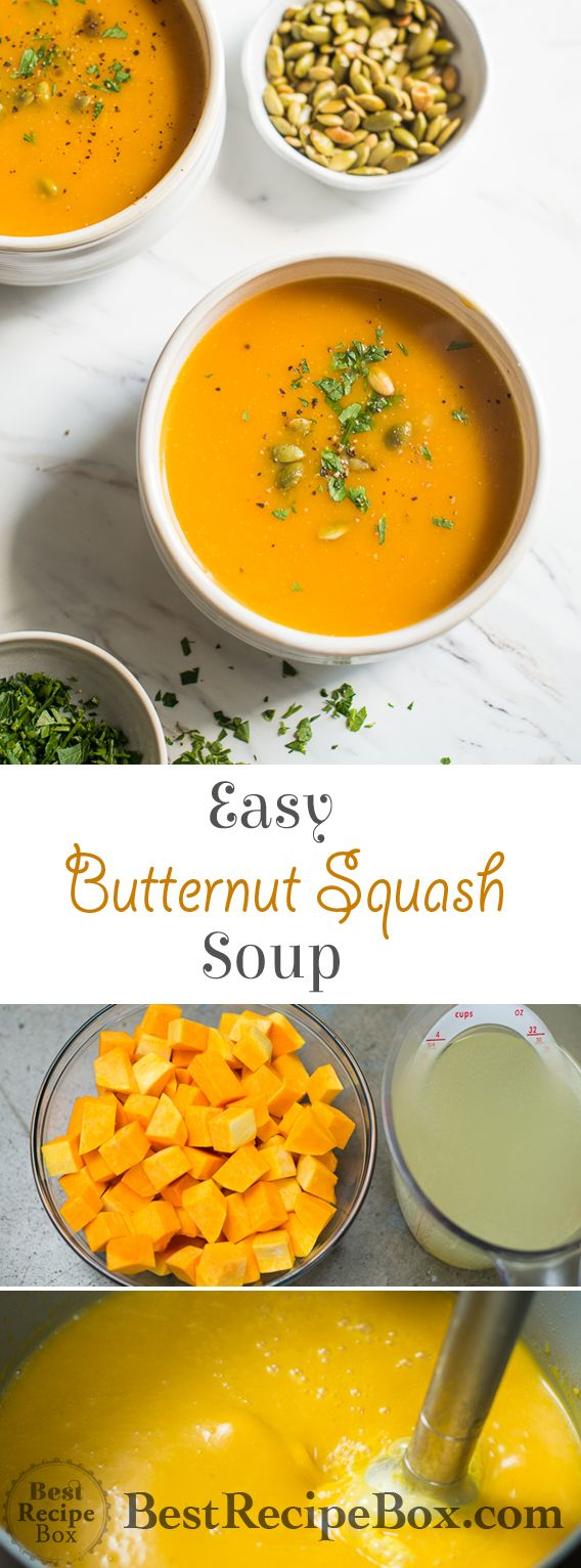 Easy Butternut Squash Soup Recipe with 2 Ingredients! | Best Recipe Box