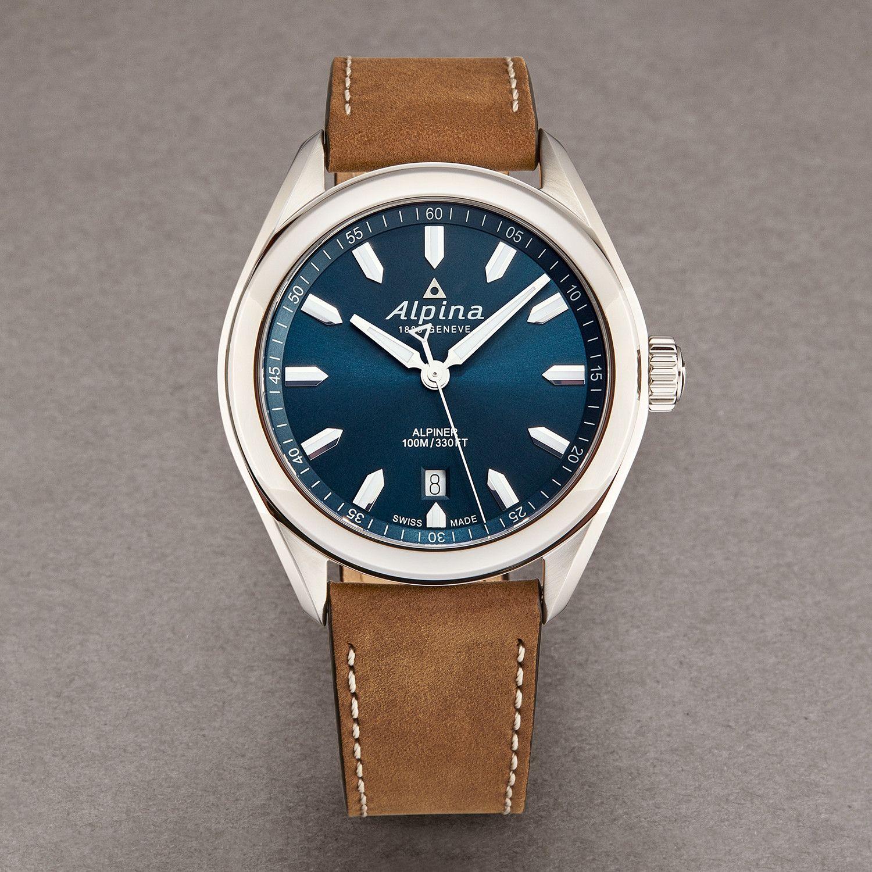 Alpina Alpiner Quartz Al240ns4e6 Luxury Watches Leather Watch Quartz