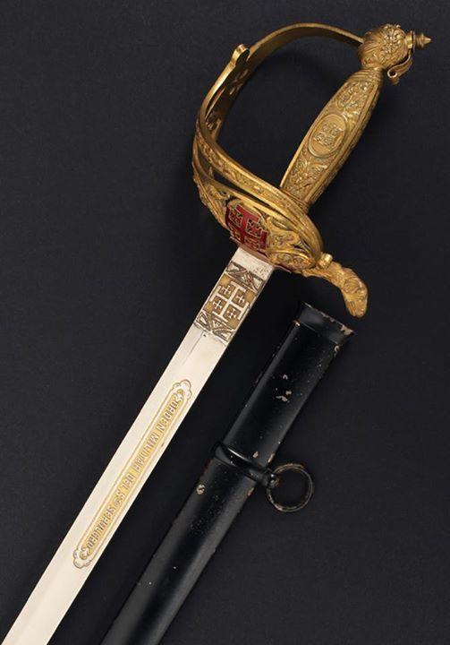 Espada-Sable de Caballero de la Orden Militar del Santo Sepulcro. España, periodo Alfonso XIII.