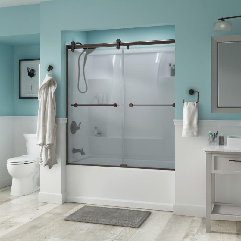 Delta Sd3276686 Trinsic 60 Wide Sliding Build Com Shower Doors Sliding Shower Door Semi Frameless Shower Doors