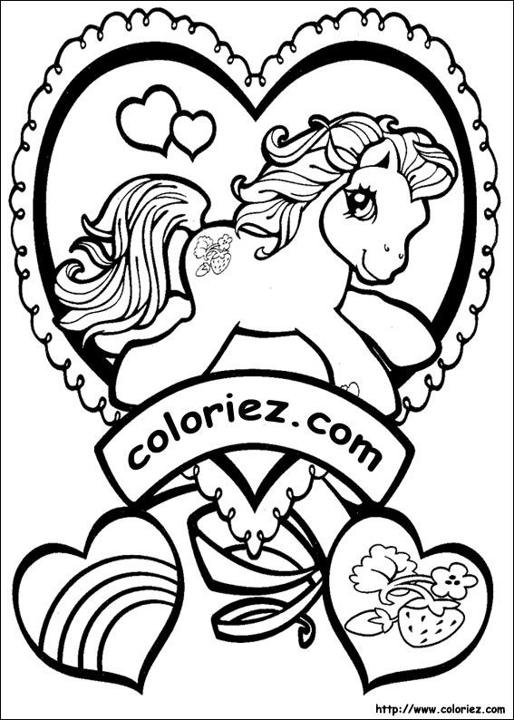 Coloriage Poney Les Beaux Dessins De Animaux à Imprimer Et