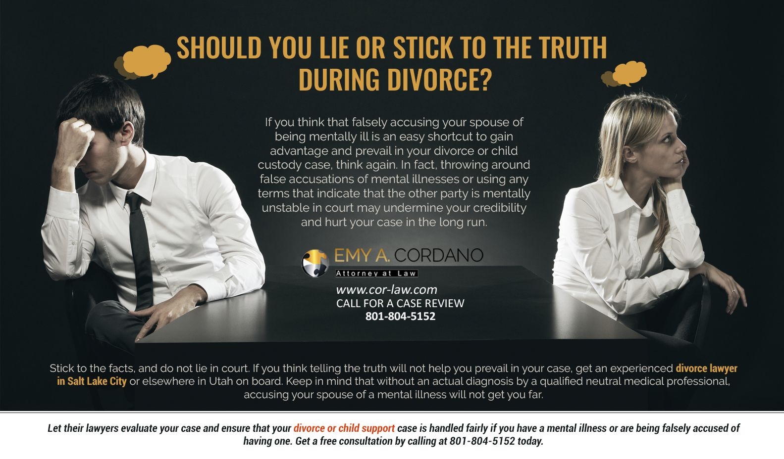Divorcing mentally ill spouse