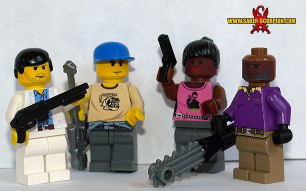 Left 4 Dead 2 Lego figs | Geek | Lego zombies, Lego, Left 4 dead