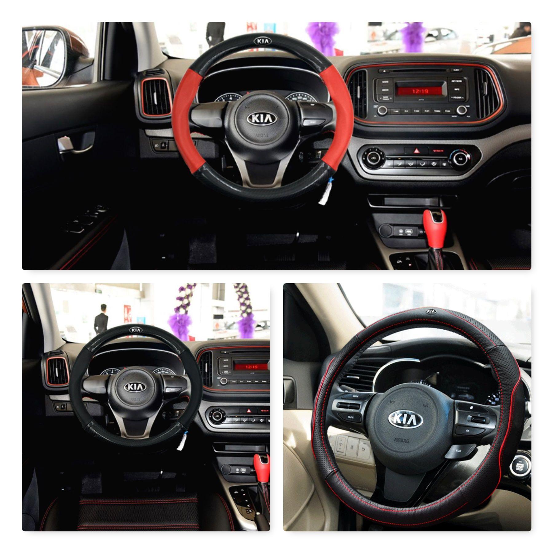 Kia Steering Wheel Leather Cover Cerato Niro Sorento Stinger