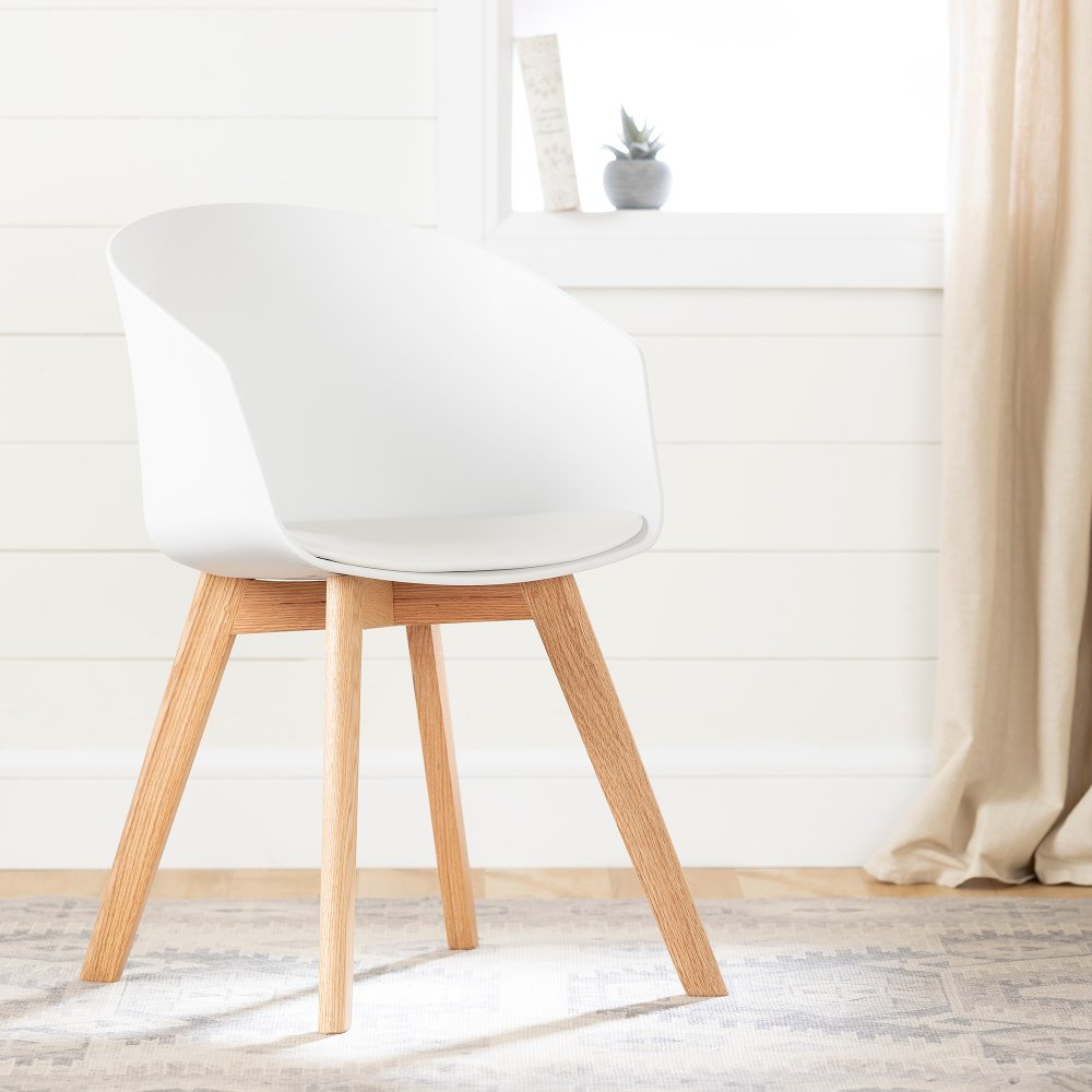 White Chair With Wooden Legs Flam Rc Willey Furniture Store Dinning Chairs Versatile Chairs Furniture