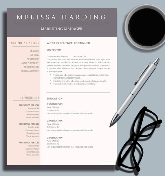 Creative Business Professional Resume Template for MS Word - resume template for business
