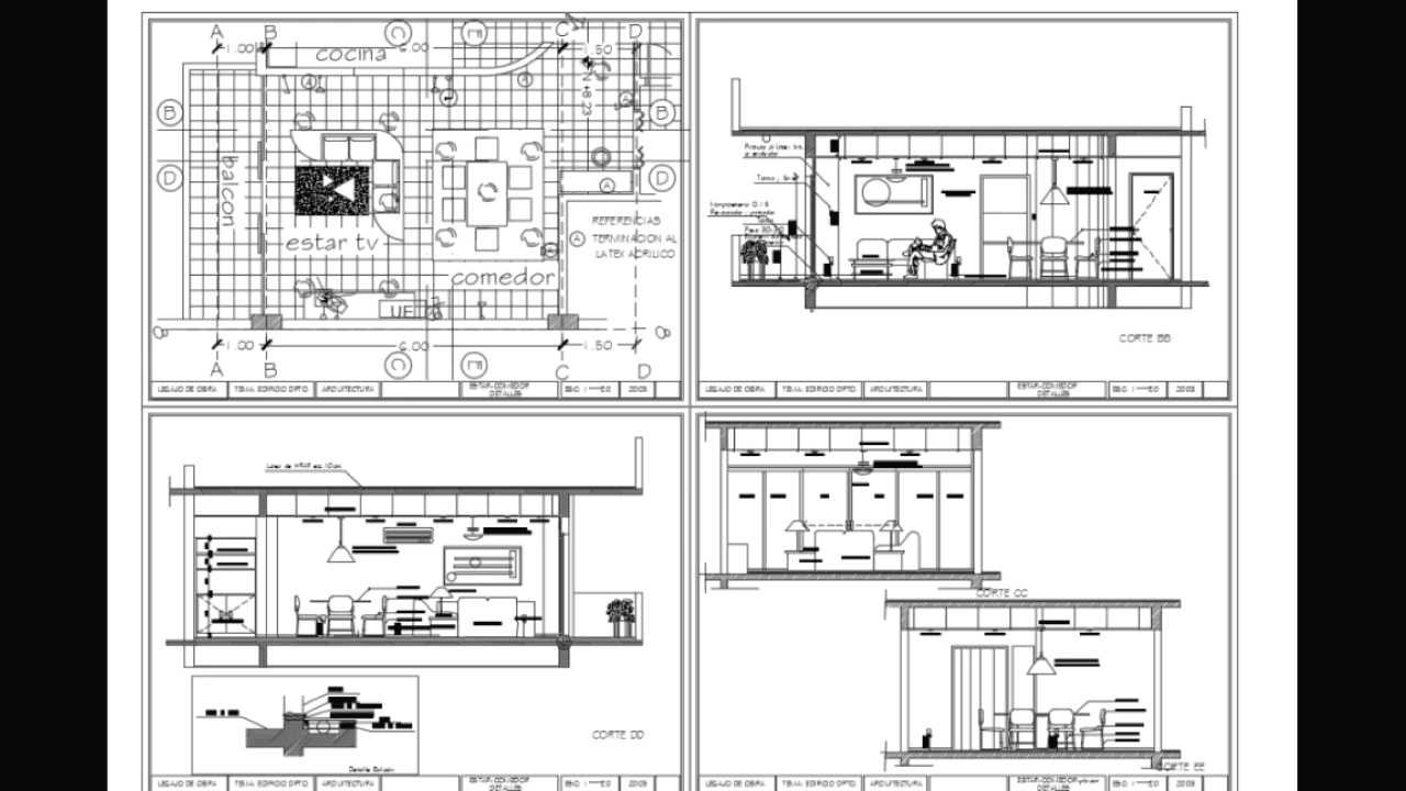 DIFFERENT LIVING ROOM INTERIOR DRAWINGS | AUTOCAD