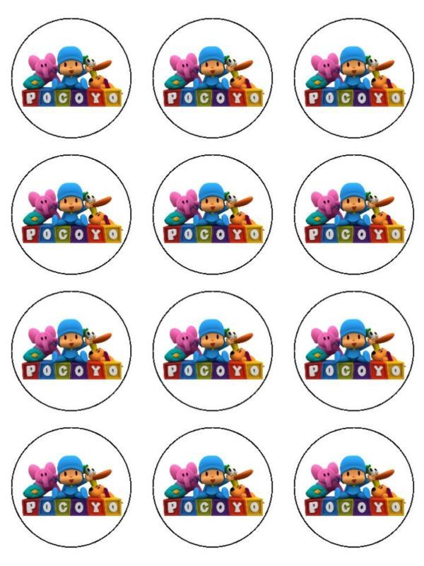 Pocoyo Edible Image Cupcake Topper Personalized 2 Quot Rounds