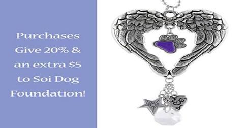 Want to buy some great gifts and help the dogs and cats of Thailand at the same time? Soi Dog Foundation has partnered with GREATER GOOD, so you can purchase items from them that do just that. https://theanimalrescuesite.greatergood.com/store/ars/item/59359/wings-of-an-angel-purple-paw-car-charm?origin=ARS_faceaff_GT_SOI_purplepawcarcharm_59359_071614