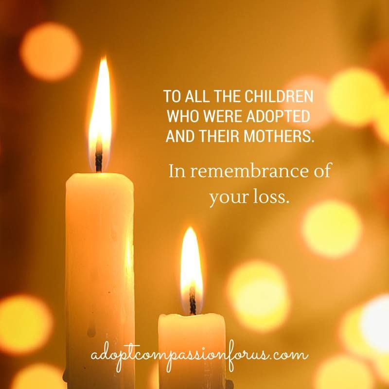 Yes! In remembrance of our mutual loss--- I already know what that means to me, and to many other birth mothers like me.