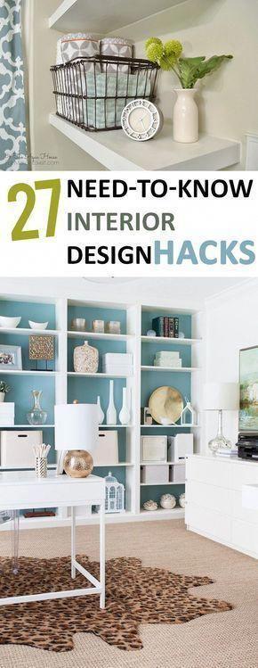 Interior design hacks home decor tips inspiration dream  diy and ideas in also rh pinterest