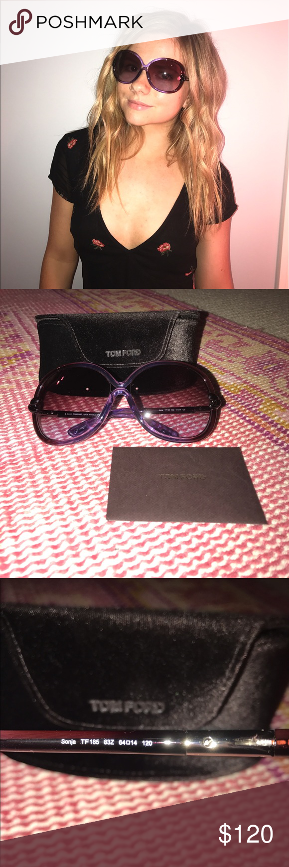f56c25b62e Tom Ford sunglasses Purple Tom Ford sunglasses with knot at temples