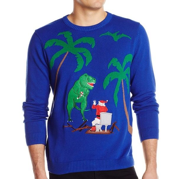 Jurassic Park Ugly Christmas Sweater Winterwear Is Coming