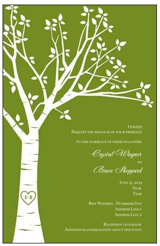 Invitation Idea Vistaprint Tree wedding invitations