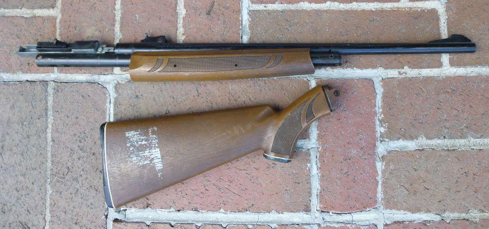 Vintage Crosman 766 BB Pellet Gun Parts Stock Forearm Barrel