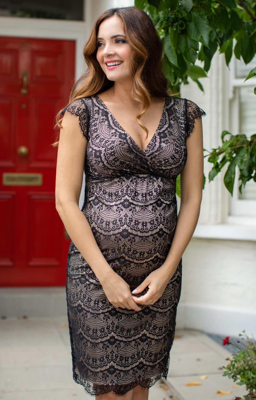 Our sexy vintage style maternity shift dress is sprinkled with