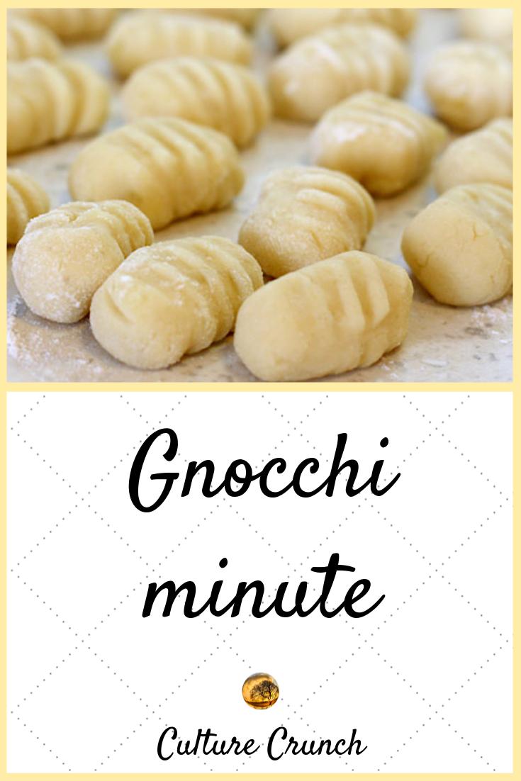 GNOCCHI MINUTE : la recette facile