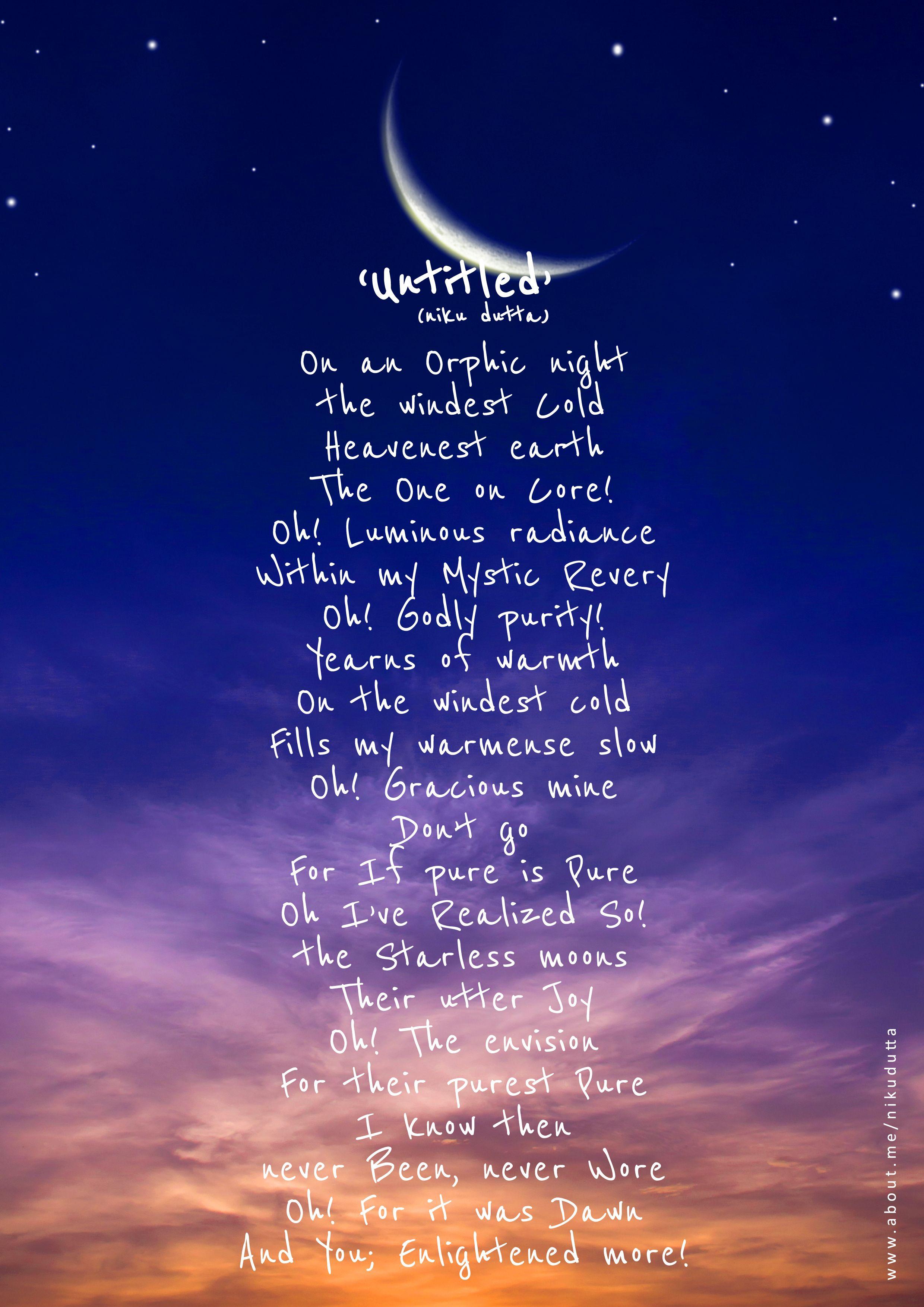 'Untitled'. #Poem #Poetic #Light #Moon #Stars #Love ...