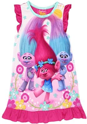 522a78d7aec0e Trolls Toddler Girls Nightgown Pajamas in 2019   Trolls outfits ...