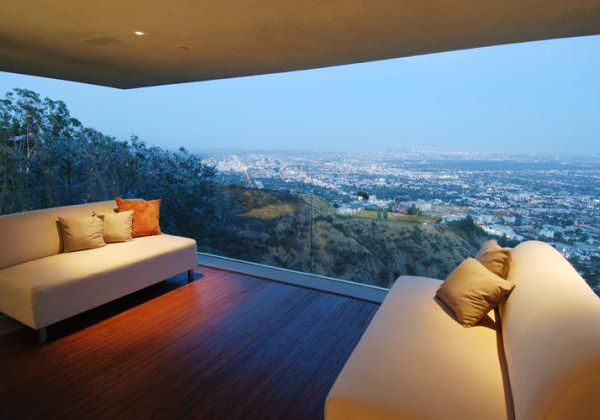 Designer House in Hollywood Hills - priceless panoramic city-to - k amp uuml chen luxus design