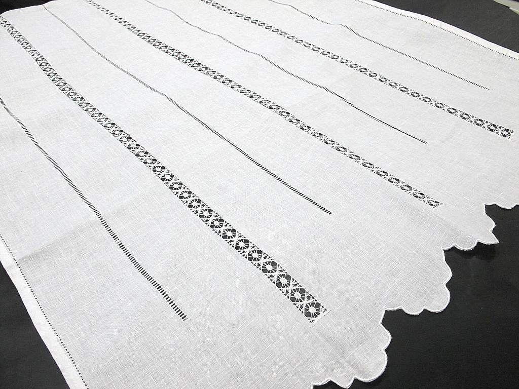 cortina lino vainicas anchas verticales