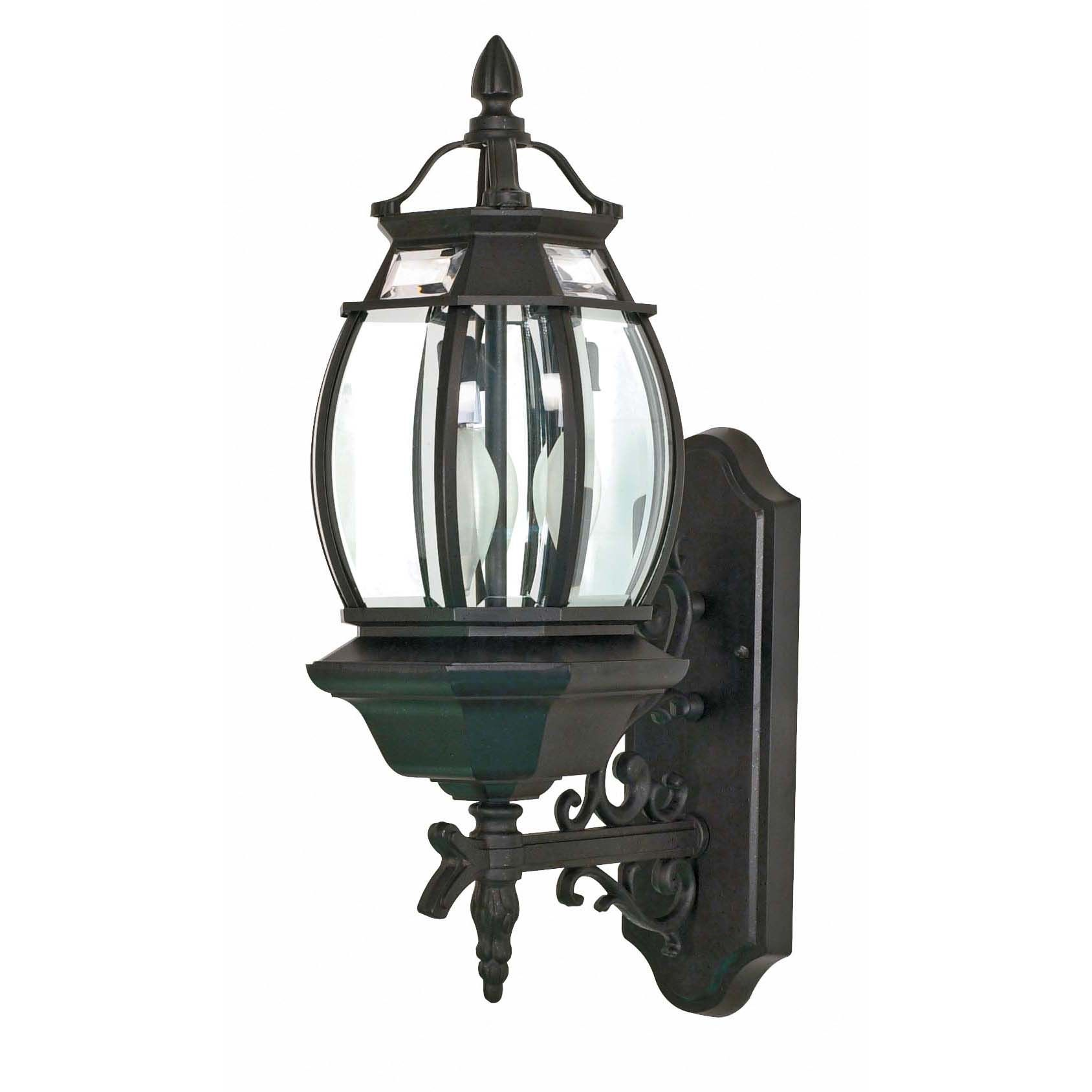 Outdoor lamps  Nuvo Lighting Central Park light Textured Black Clear Outdoor