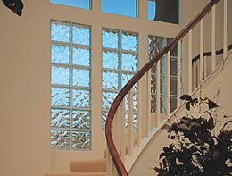 Back Staircase In Living Room Glass Blocks Wall Glass Block