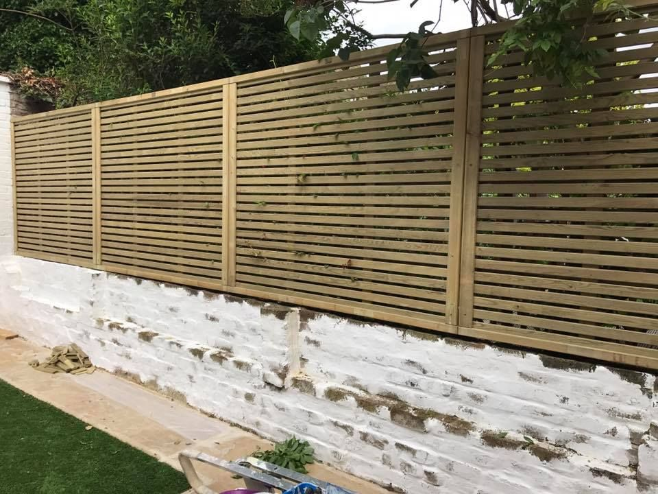 Slatted Fencing From Greenfellas Fencing North London Garden