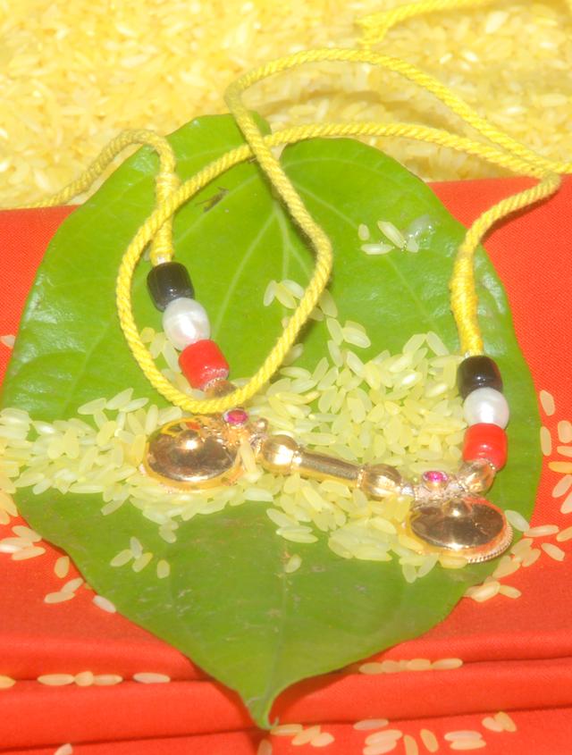 Telugu style Mangala sutra.