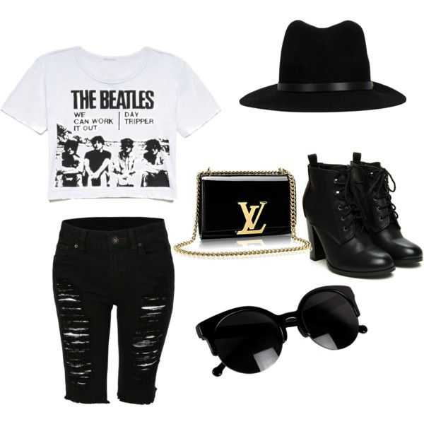 black and white by annvent on Polyvore featuring polyvore beauty rag & bone
