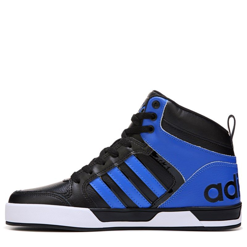 Men's Adidas Neo Hoops vs Mid black blue white NEW NWT