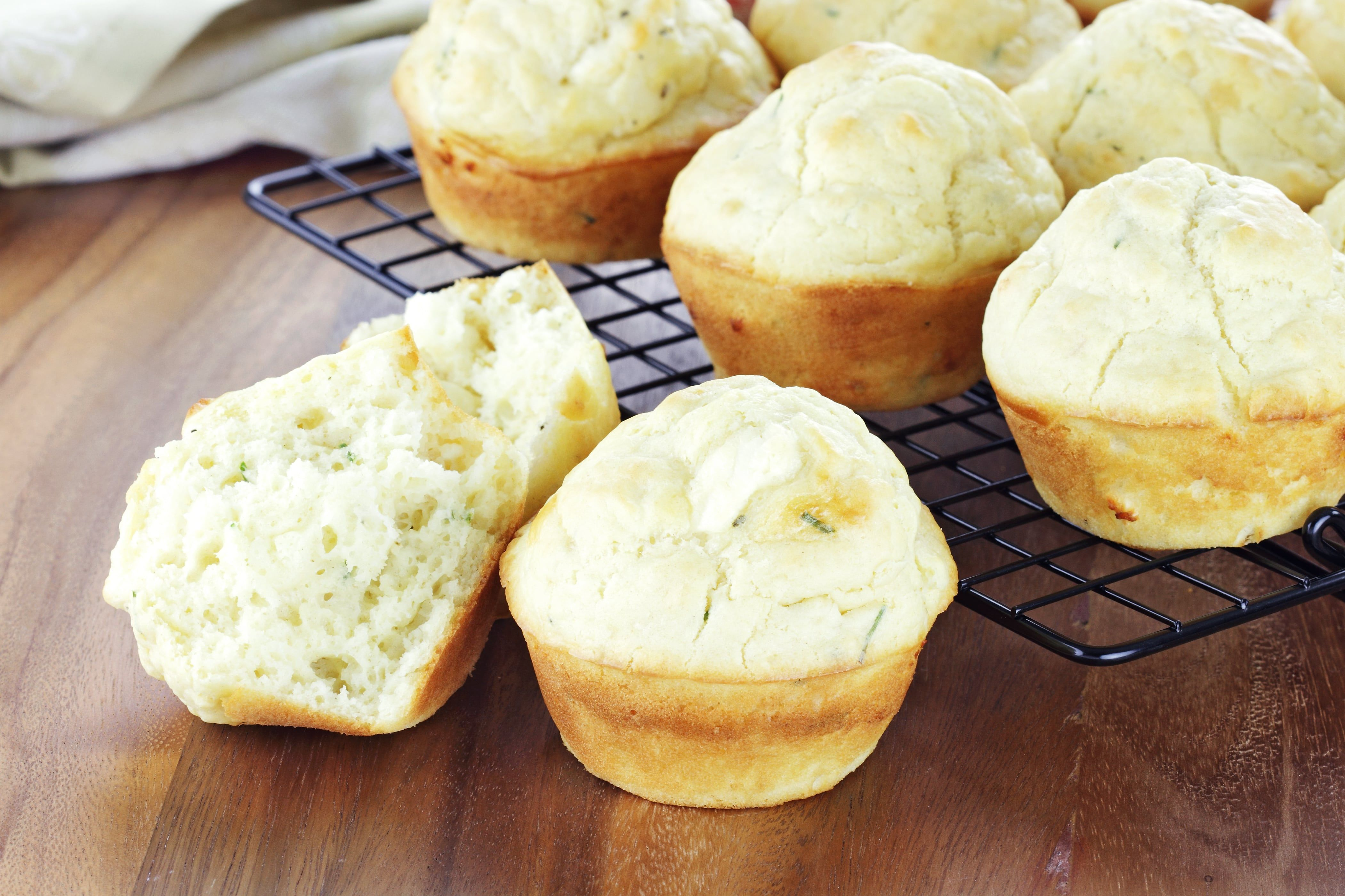 Low Carb Savory Chive Muffins Low Carb Savory Chive Muffins made with almond flour, fresh chives, and egg whites for a fluffy, keto muffin that will satisfy any bread craving.